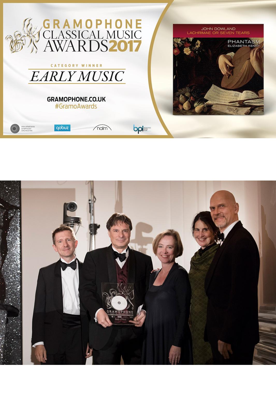 Phantasm win Gramophone Award